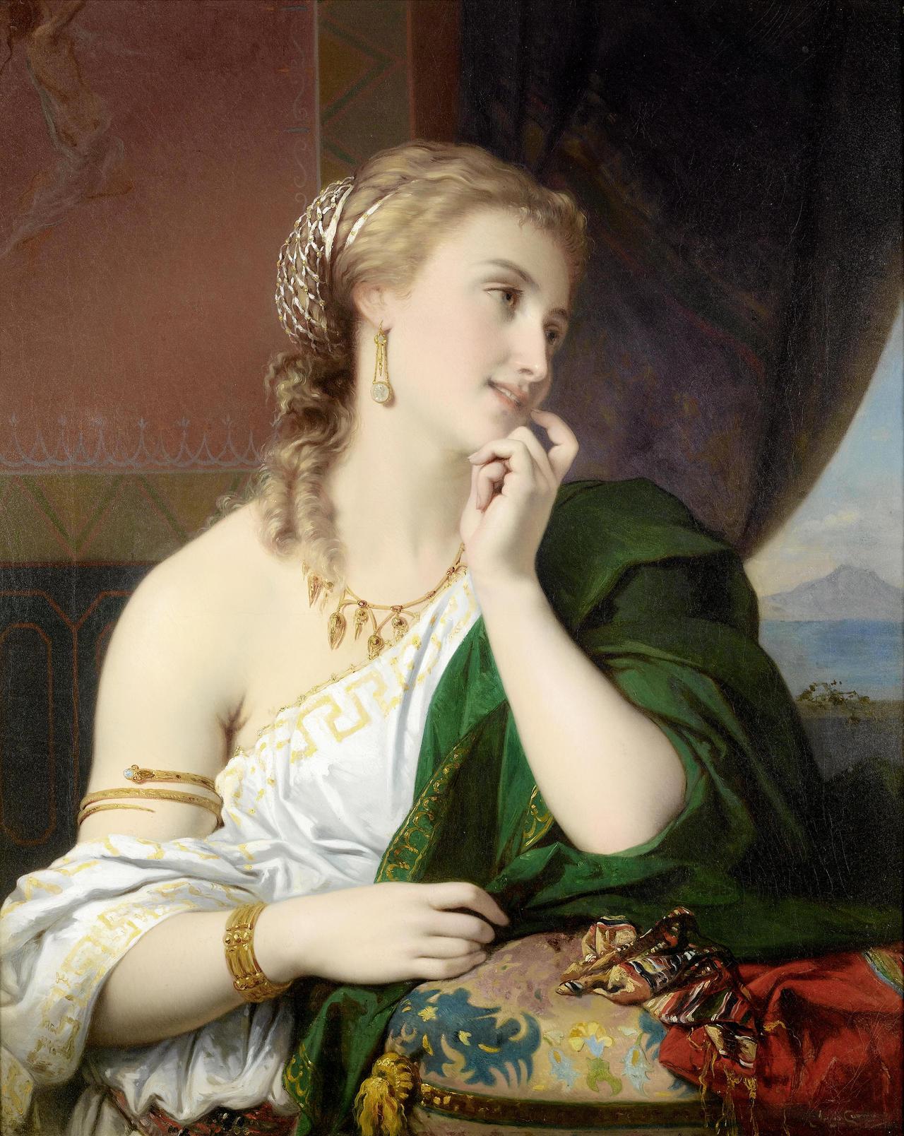 Pierre Oliver Joseph Coomans (1816-1889) - Aspasia